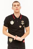Forever21 Reason Applique Polo Shirt