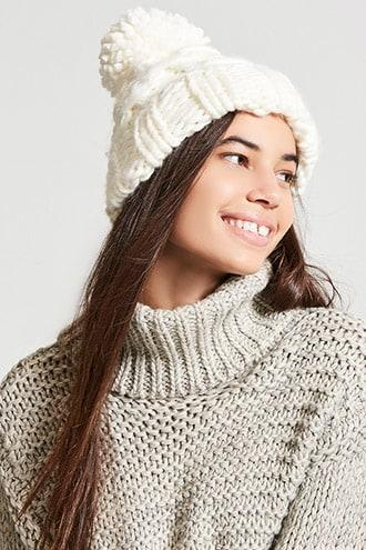 Forever21 Chunky Cable-knit Beanie