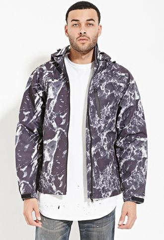 21 Men Reason Marble Waterproof Tech Jacket