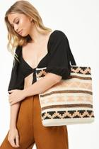 Forever21 Striped Geo Tote Bag