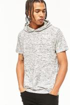 Forever21 Heathered Knit Hooded Tee
