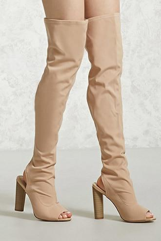 Forever21 Over-the-knee Cutout Boots