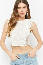 Forever21 Selfie Leslie Sheer Crochet Crop Top