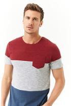 Forever21 Ocean Current Colorblocked Tee