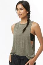 Forever21 Active Heathered Muscle Tank Top