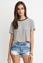 Forever21 Cropped Boxy Striped Tee