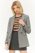 Forever21 Houndstooth Double-breasted Blazer