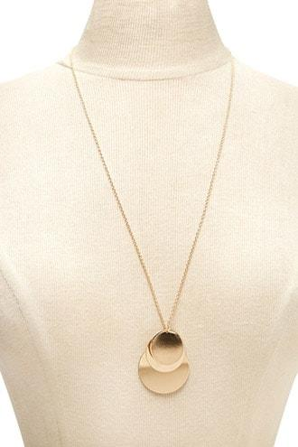 Forever21 Stacked Circle Pendant Necklace