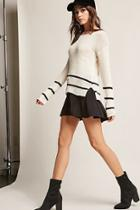 Forever21 Stripe Open-knit Top