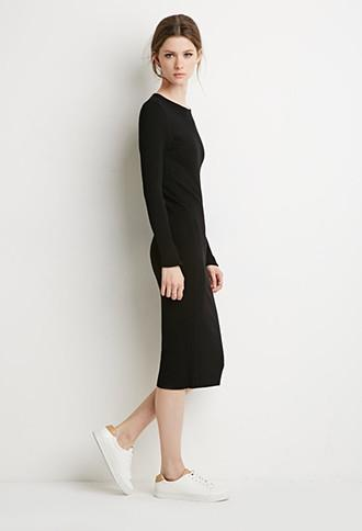 Love21 Ribbed Midi Dress