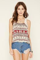 Forever21 Women's  Crochet-trim Crop Top