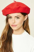 Forever21 Women's  Red Wool Beret