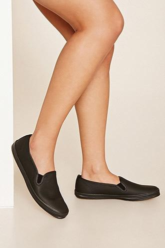 Forever21 Keds Leather Slip-ons