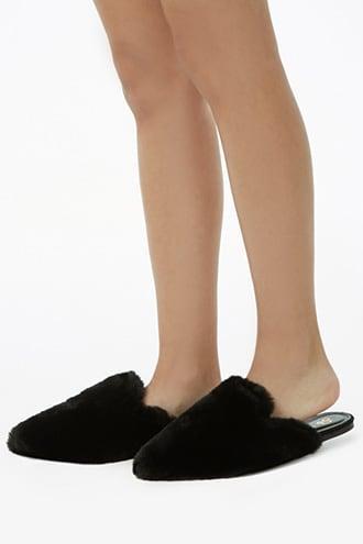 Forever21 Faux Fur Flats