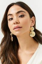 Forever21 Double Disc Drop Earrings