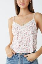 Forever21 Floral Lace-trim Cami