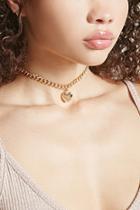 Forever21 Heart Charm Chain Choker