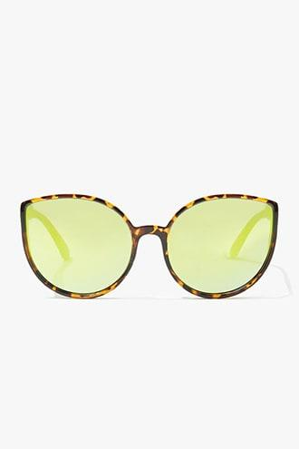 Forever21 Cat-eye Mirrored Sunglasses