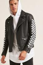 Forever21 Checkered Faux Leather Jacket