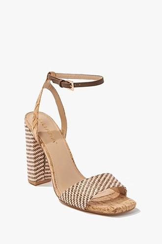 Forever21 Basketweave Cork Heels