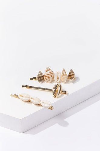 Forever21 Seashell Embellished Bobby Pin Set