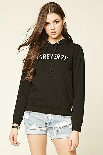 Forever21 Women's  Forever 21 Hooded Sweatshirt