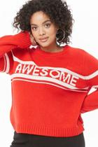 Forever21 Plus Size Awesome Graphic Sweater