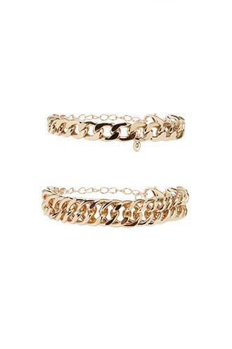 Forever21 Curb Chain Bracelet Set