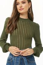 Forever21 Shadow Striped Sweater