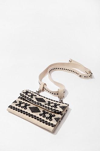 Forever21 Geo Embroidered Belt Bag