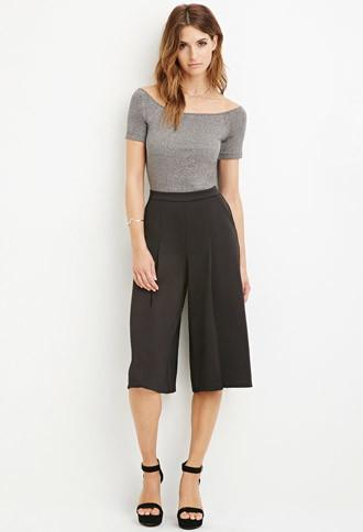 Love21 Women's  Pleated Culottes