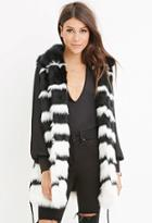 Love21 Striped Faux Fur Vest