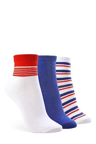 Forever21 Assorted Crew Socks  3 Pack