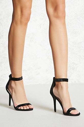 Forever21 Crushed Velvet Stilettos