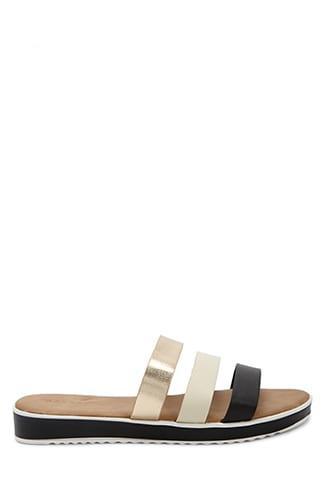 Forever21 Strappy Platform Slide Sandals