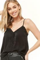 Forever21 Satin Lace-trim Cami