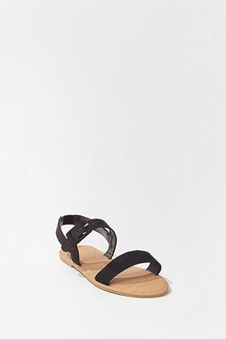 Forever21 Faux Suede Buckle Sandals