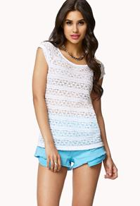 Forever21 Lace-paneled Tee