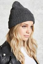 Forever21 Metallic Ribbed Knit Beanie