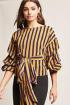 Forever21 Striped Wrap Top