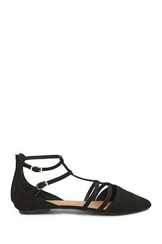 Forever21 Qupid Pointed Toe Caged Flats