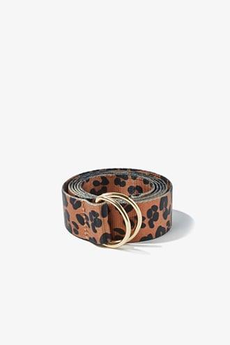 Forever21 Leopard Print D-ring Belt