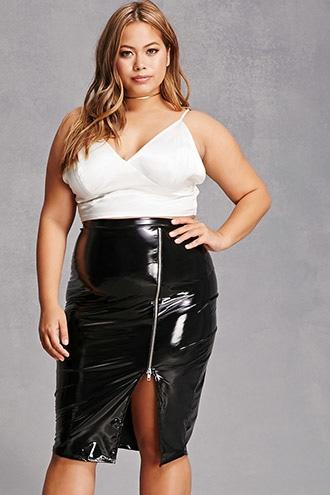 Forever21 Plus Size Faux Leather Skirt