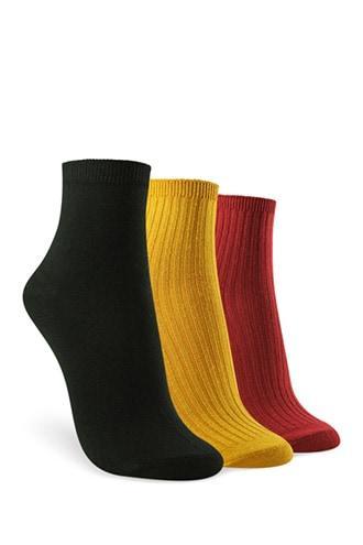 Forever21 Ribbed Knit Crew Socks - 3 Pack