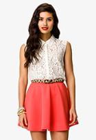 Forever21 Sleeveless Lace Shirt