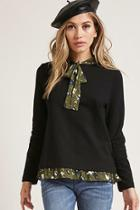 Forever21 Chiffon Contrast Top