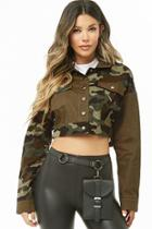 Forever21 Cropped Camo Jacket