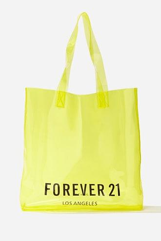Forever 21 Graphic Transparent Tote Bag
