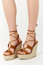Forever21 Faux Suede Lace-up Espadrille Wedges