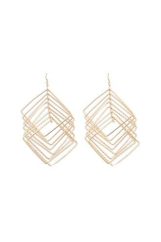 Forever21 Tiered Square Drop Earrings